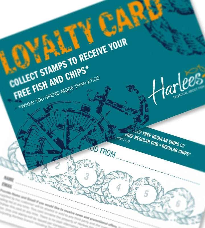 Harlees Loyalty Card - DSM Design Ltd