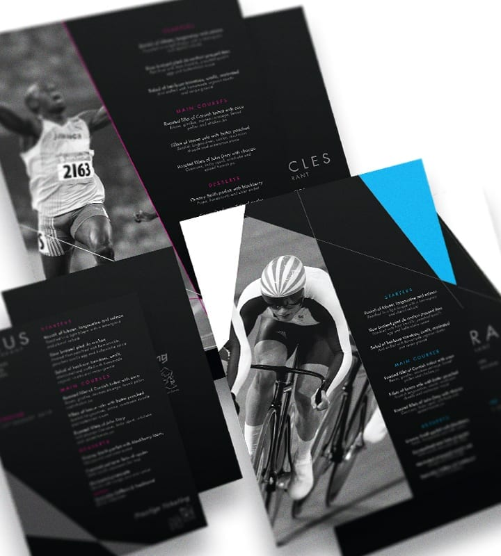 London 2020 Olympics Menus - DSM design ltd
