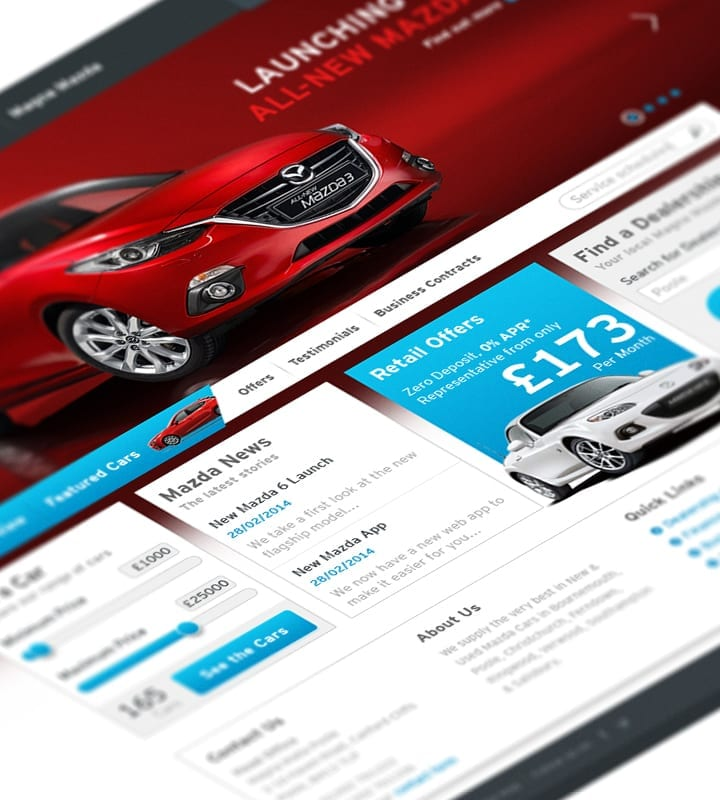 Magna Mazda - HomePage - DSM Design Ltd