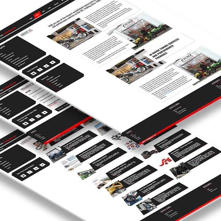 Website design for PDQ Motorcycles